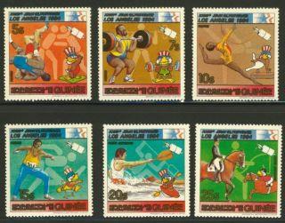 Guinea 839 - 44 Olympics,  Horses,  Sports photo
