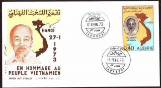 Algeria 1973 - Honor To The People Of Vietnam,  Scott 490 - Fdc