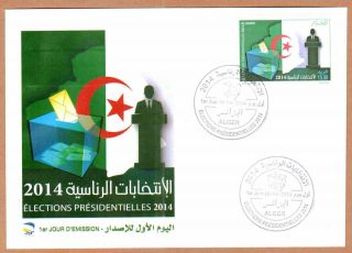 Algeria - 2014 Presidential Elections - Apr 16th,  2014 - Fdc,  Topical Cancel photo