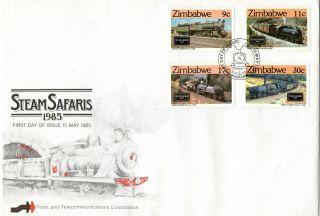 Zimbabwe 1985 Steam Safaris Railway First Day Cover Shs photo