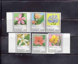 Congo 1996 Flowers Scott 1109 - 1114 photo