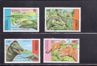 Congo 1993 Dinosaurs Scott 1043 - 46 photo