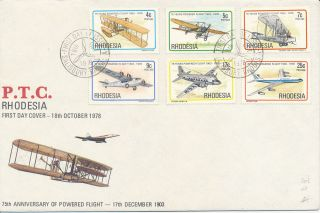 Rhodesia First Day Cover 18th October 1978 - 75th Anniversary Of Powered Flight photo