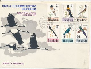Rhodesia First Day Cover 18th March 1977 - Birds Of Rhodesia photo