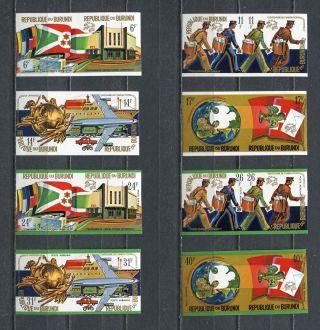 Burundi 1974 Sc 460 - 463 C 199 - C 202 Mi 1069 B - 1084 B photo