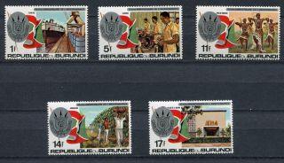 Burundi 1977 Sc 538 - 542 Mi 1451 A - 1455 A photo