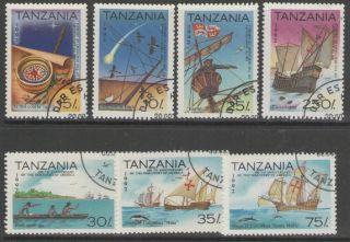 Tanzania Sg1345/51 1992 500th Anniv Of Discovery Of America Fine photo