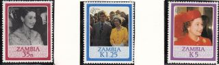 (71364) Zambia - Queen Elizabeth 60th Birthday photo