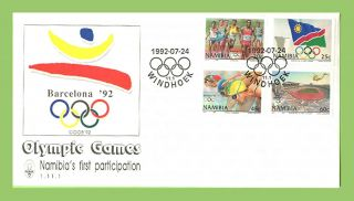 Namibia 1992 Barcelona Olympic Games First Day Cover photo