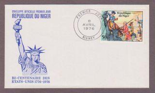 Niger 353,  American Bicentennial Fdc photo