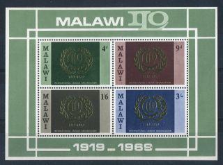 Malawi 1969.  Labour.  Minisheet Ms328. .  Og. photo