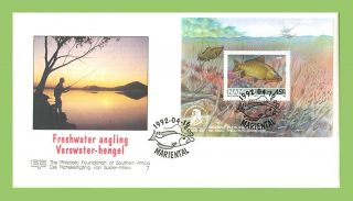 Namibia 1992 Freshwater Angling,  Exhibition Sheet First Day Cover photo
