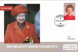 (18019) Mercury Fdc Liberia - Queen Elizabeth 75th Birthday 2001 photo