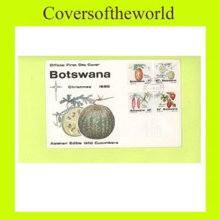 Botswana 1985 Christmas Issue,  Edible Cucumbers Fdc photo