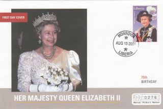 (18021) Mercury Fdc Liberia - Queen Elizabeth 75th Birthday 2001 photo