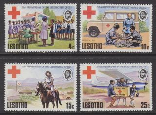 Lesotho - 1976 Red Cross (4v) Um / photo