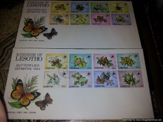 Lesotho 1984 Definitive Butterflies Fdc photo
