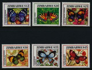 Zimbabwe 897 - 902 Butterfly,  Flowers photo