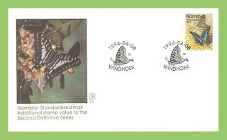 Namibia 1994 Additional Definitive Value,  Butterfly First Day Cover photo