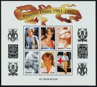 Zambia 706 Princess Diana photo