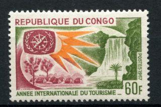Congo Brazzaville 1967 Sg 129 Int.  Tourist Year A39088 photo
