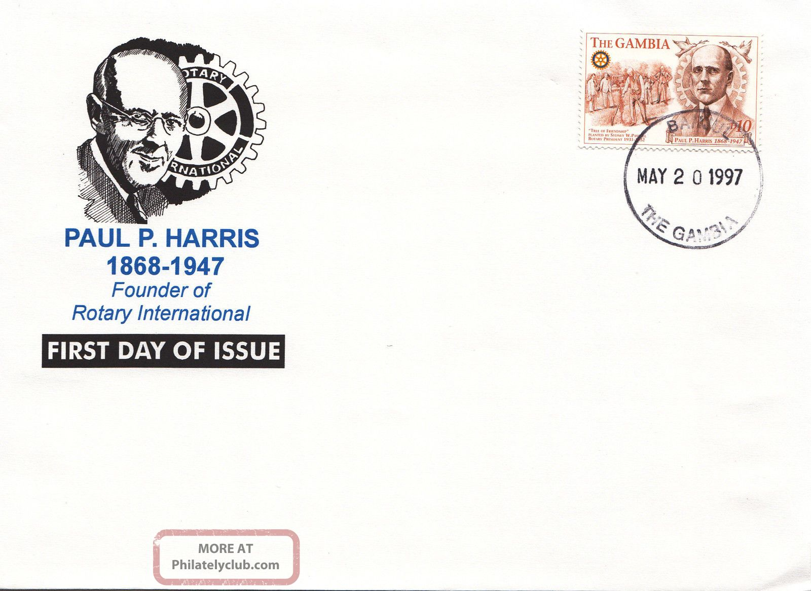 (22457) Gambia - Fdc Rotary International - Paul P Harris 1997 Africa photo