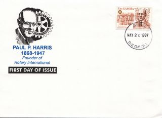 (22457) Gambia - Fdc Rotary International - Paul P Harris 1997 photo