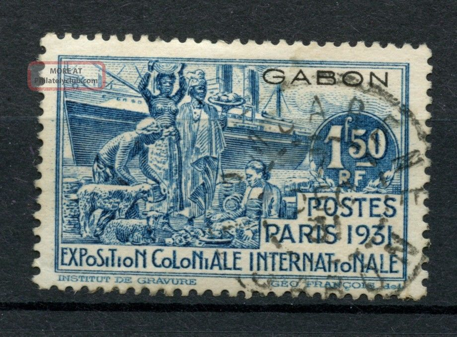 Gabon 1931 Sg 126,  1f50 Int.  Colonial Exh.  A35589 Africa photo