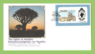 Namibia 1990 Sights Of Namibia,  Exhibition Sheet First Day Cover photo