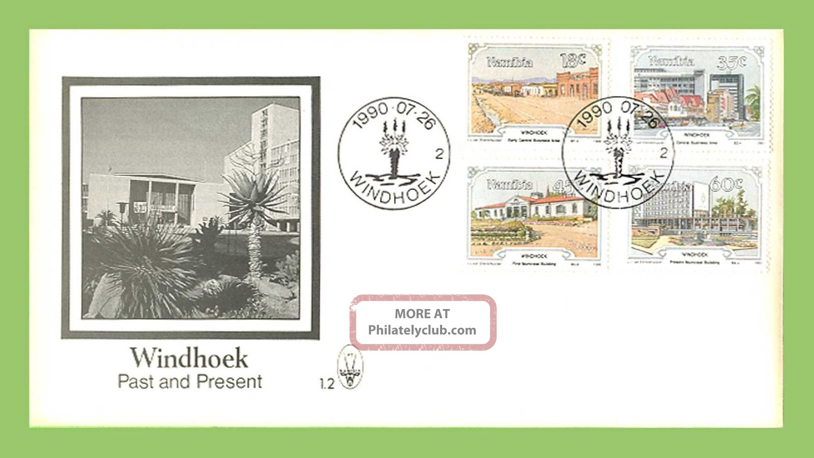 Namibia 1990 Windhoek,  Past & Present First Day Cover Africa photo