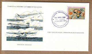 Fdc 1979 Madagascar - International Society Of Postmasters - Planes photo