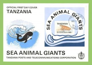 Tanzania 1993 Sea Giants,  Sea Turtle Miniature Sheet First Day Cover photo