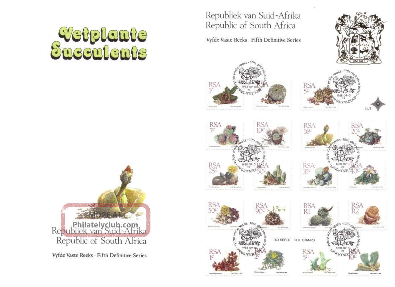 1988 Rsa/south Africa/sudafrica Piante Grasse & Cactus & Succulents In Folder Africa photo