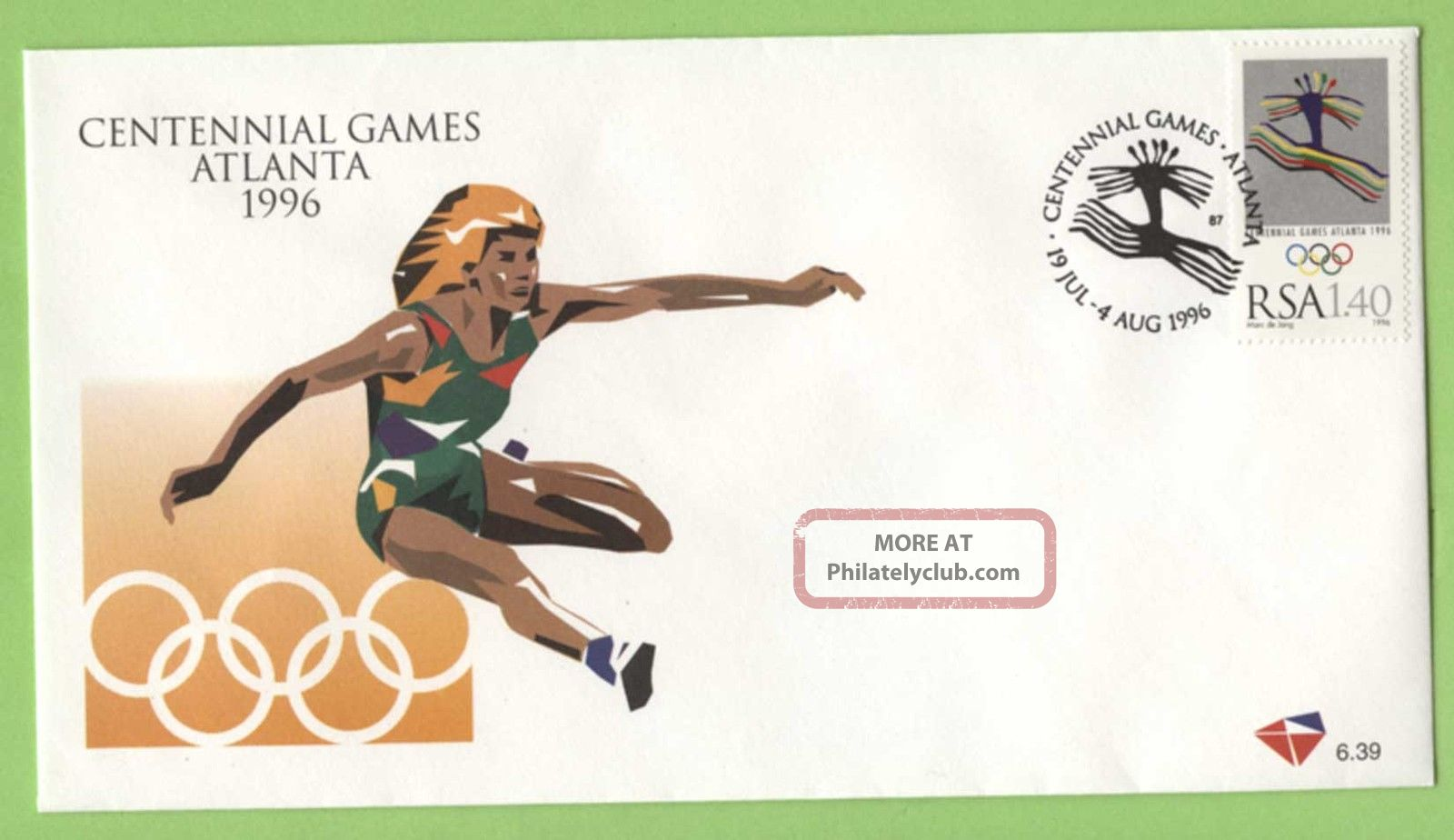 South Africa 1996 Olympic Games,  Atlanta 1.  40 First Day Cover Africa photo