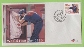 South Africa 1996 World Post Day First Day Cover photo
