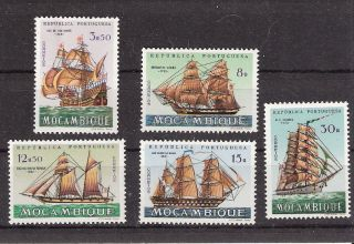 Mozambique 1963 Ships Some High Values (sc 443,  449,  451,  452,  454) photo