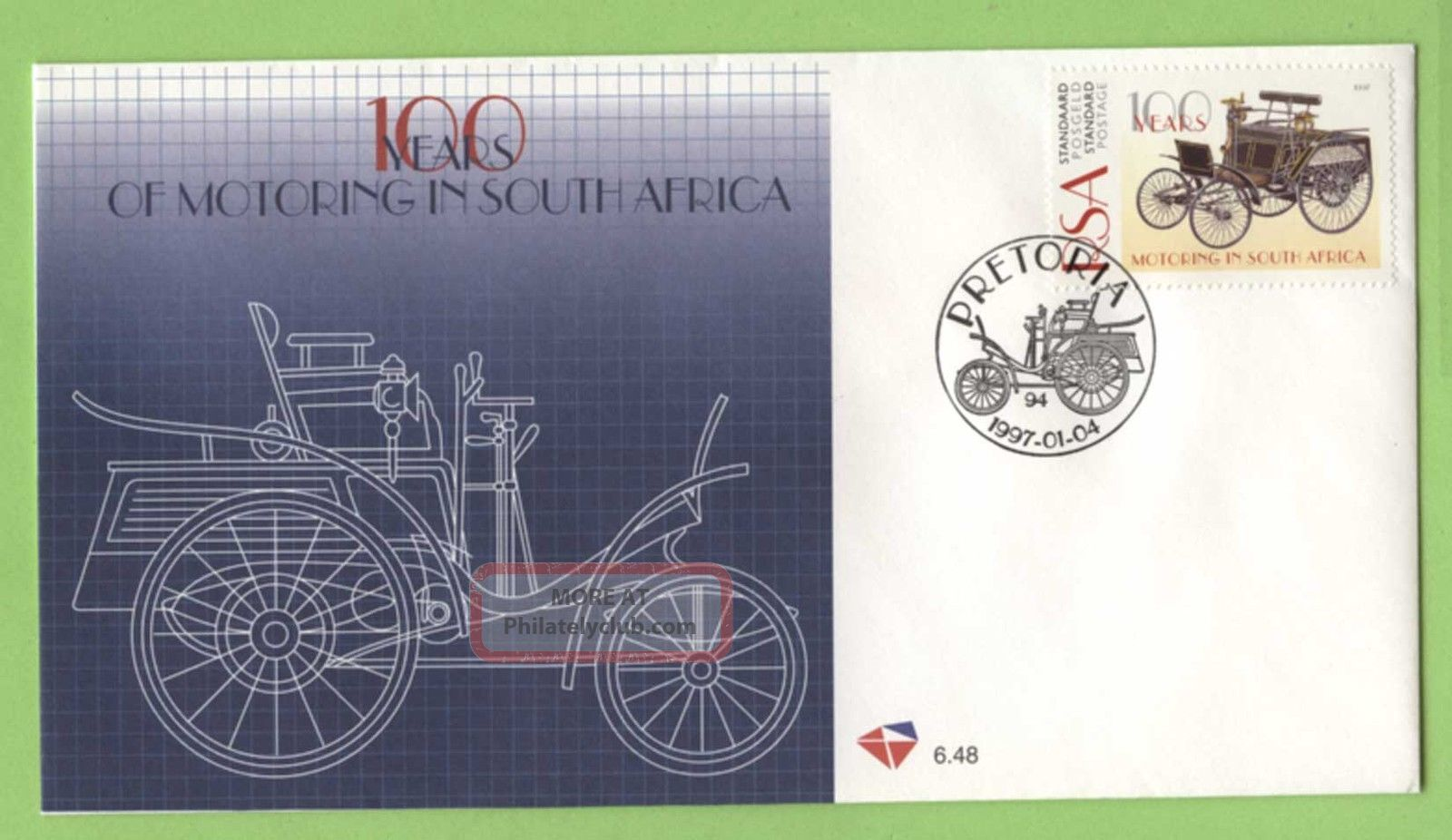 South Africa 1997 Centenary Of Motoring In South Africa First Day Cover Africa photo