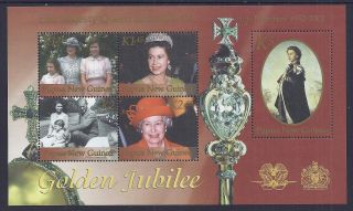 2002 Papua Guinea Golden Jubilee Ms Fine Muh/mnh photo