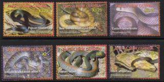 Papua Guinea Sg1140/5 2006 Snakes photo