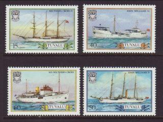 Tuvalu Ships 410 - 413 Vf (14181) photo