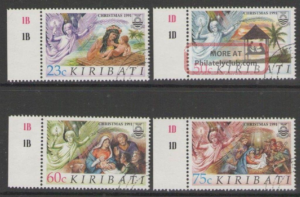 Kiribati Sg373/6 1991 Christmas Fine Australia & Oceania photo