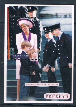 Penrhyn 1998 Diana Commemoration Sg 526 photo