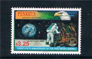 Penrhyn 1994 Anniv.  Of Moon Landing Sg 504 photo