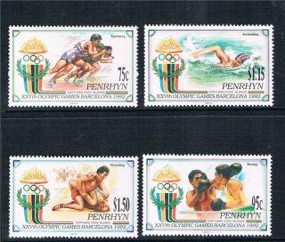 Penrhyn 1992 Olympic Games Sg 462/5 photo