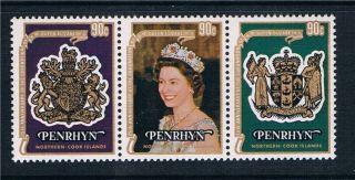 Penrhyn 1978 25th Anniv.  Coronation Sg 121/3 photo