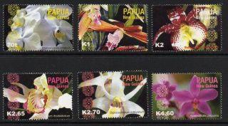 Papua Guinea Sg1017/22 2004 Orchids photo