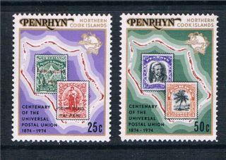 Penrhyn 1974 Cent.  Of U.  P.  U.  Sg 70/1 photo