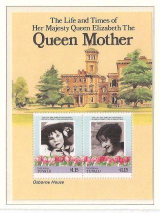 (70339) Tuvalu - Queen Mother Minisheet - Osborne House - U/m photo