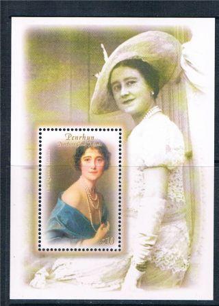 Penrhyn 2000 Q,  Mother 100th Birthday Sg Ms 535 photo