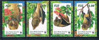 Fiji 1997 Endangered Species Bats Sg 986 - 9 photo